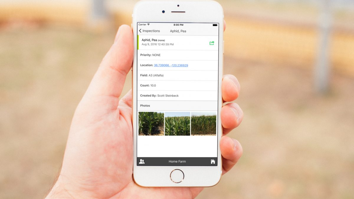 Mobile Irrigation Tracking